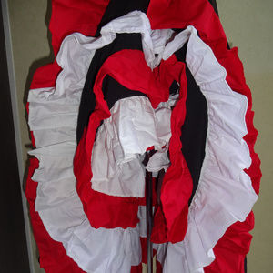 Womens Cancan Skirt OS XS S M L Black Red White